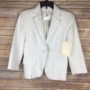NWT Boston Proper Sz 6 White Linen Blazer